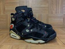 RARE🔥 Nike Air Jordan 6 VI Chinese New Year AA2492-021 Sz 9.5 Black Gold Red LE