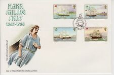 Unaddressed Isle of Man FDC First Day Cover 1988 Manx Sailing Ships Set