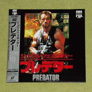 PREDATOR [1987/Arnold Schwarzenegger] - RARE 1988 JAPAN LASERDISC + OBI
