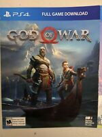 God of War (Sony PlayStation 4) - PS4 Game Digital Code - Brand New