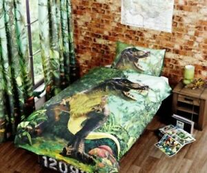 "Rapport Kids Children's ""T Rex"" Dino Jurassic Duvet Cover Bedding Set Multi"