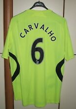 Chelsea 2007/2008 Away Football Shirt Jersey Adidas #6 Carvalho