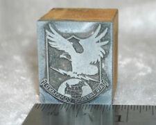 Vintage Air Force Aerospace Defense Comman 00004000 D logo Engraved Metal Printing Stamp