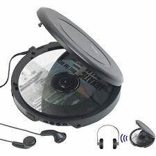CD Spieler: Tragbarer CD-Player mit Ohrhörern, Bluetooth und Anti-Shock-Funktion