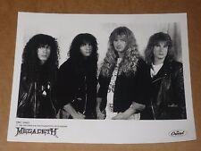 More details for megadeth 10 x 8 1990 capitol publicity photo