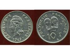 POLYNESIE francaise 10 francs 1967