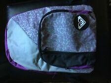 LOWERED PRICE! ROXY BACKPACK PURPLE, GRAY AND BLACK LARGE SIZE.