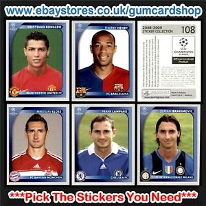 Panini Champions League 2008-2009 (1 to 99) *Select the Stickers You Need*