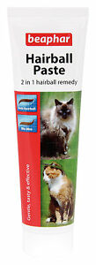 Beaphar Hairball Paste for Cats, 2 in 1 Hairball Remedy