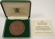 1992-tons bronze-Millénaire de l'Office of High Sheriff par Royal Comme neuf