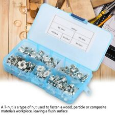 80pcs T Nut Four-Pronged M3/4/5/6/8 Tee Nuts Kits For Woodworking Furniture New