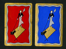 US VF Pair of Paris Art Deco Westy Walker Playing Cards, 1932