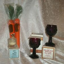 Lot of 5 Vintage Cream Decanters/ Candle Holders By Avon Karrot Tan, Tree Mouse