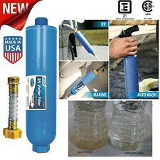 RV Water Filter Activated Carbon Flexible Hose Protector Camper Drinking Water