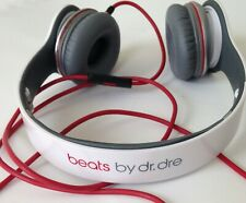 Beats by Dr. Dre Solo HD Monster Headband Headphones (White/Red)