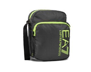 Emporio Armani 275976 CC980 Train Prime EA7 Shoulder Messenger Man Bag Grey