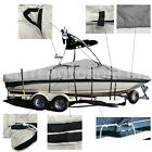 Deluxe V-Hull Fishing Runabout boat with Ski Wakeboard Tower Boat Cover 21'L