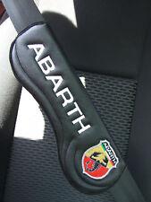 Ergonomic Seat Belt Harness Pad, set of 2 embroidered Abarth  , non OEM