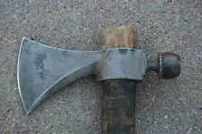 Antique Native American Hammer Pole Belt Trade Axe Pipe Tomahawk form Old Indian