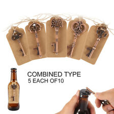50pcs Skeleton Key Bottle Opener Keyring Baby Shower Party Wedding Gift Favors