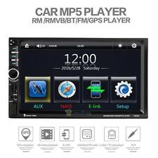 """7"""" HD Touch Screen Double 2DIN Car GPS Navi Stereo DVD Player Bluetooth Radio TV"""