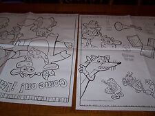 Dora the Explorer birthday party giant coloring pages, posters 2- 28 X 40 in NEW