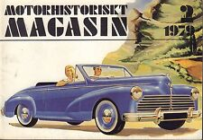 Motorhistoriskt Magasin Swedish Car Magazine 2 1979 Peugeot 032717nonDBE