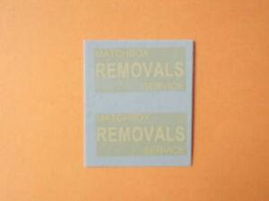 "Matchbox Lesney 1-75 No 17A Bedford ""Removals"" Van  Transfers/Decals"
