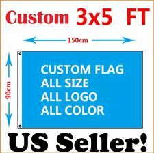 Custom Flag 3x5 Ft Single Sided Banner Usa Shipping Sharp Imaging With 2 Grommets