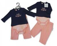 Baby Girls Clothes Dress bodysuit trousers Pink Newborn 0-3months 3-6 months