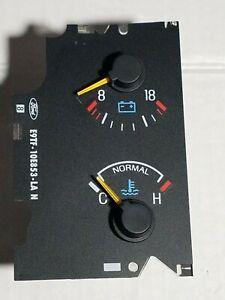 87-91 Ford Truck Bronco Temperature Voltage Gauge F150 250 350 Pickup 1987-1991