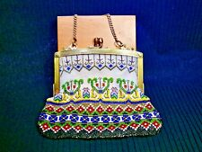 Incredible Victorian Beaded Purse With Soft Leather Lining - Must See Pics!