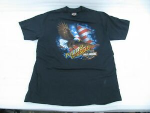 XL Harley Davidson T Shirt 3D Emblem 1991 Follow the Eagle Fort Worth Texas