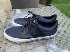 Converse Man Navy Lace Up Textile Trainers Size UK 10