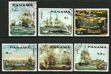1968 Panama - Paintings 17th to 19th Century Sailing Ships - Complete Set 6 CTO