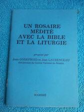 Un Rosaire Medite avec la Bible et la Liturgie Godefroid Laurenceau Mambre 1970