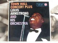 LOUIS ARMSTRONG - TOWN HALL CONCERT PLUS - LP VG+/VG+ OG ITA MONO DEEP GROOVE DG