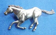 Western Equestrian Cowboy Tack Running Horse Left Silver Concho's Set of 6