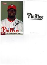 DONTRELLE WILLIS 2012- Philadelphia Phillies Signed Photo 4x6