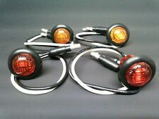 "(4-Pack) Round LED Turn Signal Kit Side Marker Tail Light 3/4"" Amber Red UTV SXS"