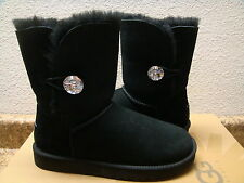 UGG BAILEY BUTTON BLING BLACK SWAROVSKI CRYSTAL BOOT US 7 / EU 38 / UK 5.5 - NIB