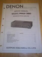 Denon Service Manual for PMA-360 Integrated Amplifier/Amp~Original~Repair