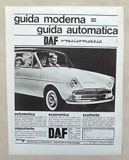 E342-Advertising Pubblicità-1965 - DAF AUTOMATICA VARIOMATIC