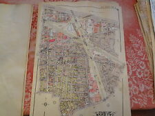 Rare Queens NY 20X27 Maspeth Woodside Linen Backed Atlas Map Plate 4 LIRR