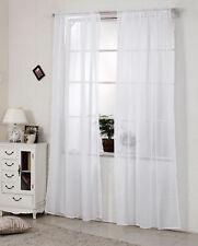 2x Gardine Vorhang transparent Dekoschal Kräuselband 140x225cm Weiß VH5515ws-2