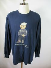 F2577 Polo Ralph Lauren Men's POLO BEAR Long Sleeve Crewneck Shirt Size L