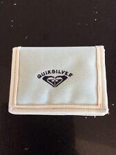 """Vintage Turquoise Blue Canvas Quiksilver Wallet Purse - 5"""" X 4"""""""