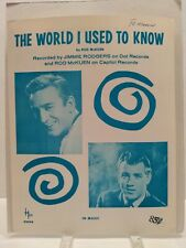 The World I Used To Know Sheet Music Jimmie Rodgers Piano Voice 60s Country F2F