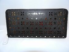 Michael Kors Jet Set Travel ZA Continental Wallet in Lazer Cut Floral Perforated