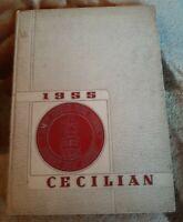 Vintage Saint Cecilian High School 1955 Kearny New Jersey Yearbook